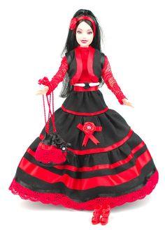 Barbiekleid mit Weste, Tasche, Schuhen von ESK Multistyle - herzlich willkommen! auf DaWanda.com