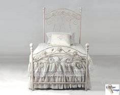 The American Iron Bed Company: Gardenia (Queen size) Antique Iron Beds, Wrought Iron Beds, Pop Up Trundle, Antique Headboard, Victorian Irons, Cast Iron Beds, Mattress Frame, Bed Company, Extra Bedroom