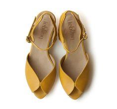 Neu! Gelbe Adelle Sandalen, handgemachtes Leder Schuhe, grüne Schuhe, Frauen Heels Sandaletten kostenlose shiping