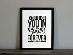 Custom Ray LaMontagne Lyrics Poster - with Personalized Names + Date