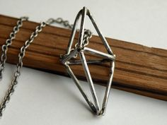 Steel Prism Necklace by HeroKing on Etsy,