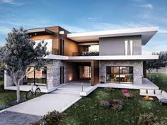 Güzelbahçe villa modern homes vero concept architecture modern - Hier finden Sie verschiedene Fotos zur R. Villa Design, Roof Design, Modern House Design, Exterior Design, Roof Architecture, Concept Architecture, Chalet Design, Home Fashion, Beautiful Homes