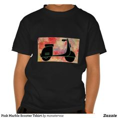 Pink Marble Scooter Tshirt #Pink #Marble #Shirt #Tshirt #Tee #Scooter