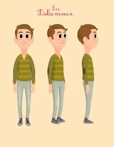Delamour : character design by olivier masson, via Behance