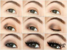 Step by Step Neutral Brown Eye Makeup for Asian Eyes