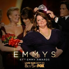 Shimmering: @MelissaMcCarthy at the 63rd #Emmys, 2011  Watch the 67th – tomorrow on @foxtv.  #cinemagraph by @flixelphotos #melissamccarthy #mikeandmolly