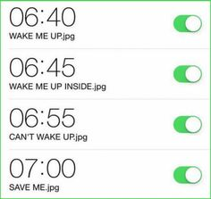 Who else has problem to wake up?