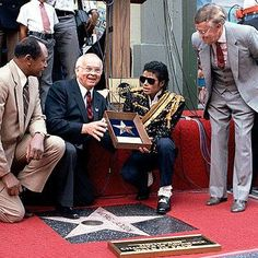 November 20, 1984 Michael Jackson was awarded a star on the Hollywood Walk Of Fame