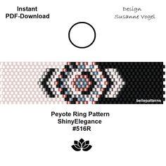 Ein persönlicher Favorit aus meinem Etsy-Shop https://www.etsy.com/de/listing/580597846/peyote-ring-muster-pdf-download-digital