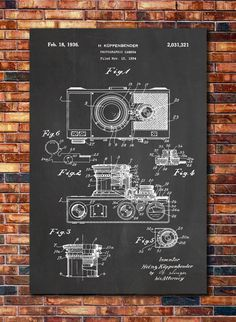 Camera Patent Print Art 1936 by CatkumaPatentPress on Etsy