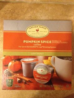 Archer Farms Pumpkin Spice K-cups 18 Single Servings - http://thecoffeepod.biz/archer-farms-pumpkin-spice-k-cups-18-single-servings/