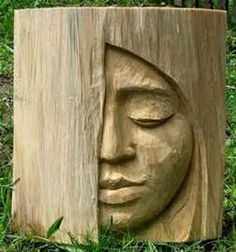 Wood Carvings Brittany Ramos maybe it& just because I just pinning somethin. Wood Carvings Brittany Ramos maybe it& just because I just pinning something for you, but this face reminds me of you. Mackenzie Peterson what do. Wood Carving Faces, Tree Carving, Wood Carving Patterns, Wood Carving Art, Carving Tools, Wood Carvings, Chainsaw Wood Carving, Wood Carving Chisels, Wood Carving Designs
