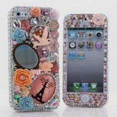 iphone 5 Luxury 3D Swarovski Crystal Diamond Make Up Mirror Design Bling Front #etsy #handmade #gift #quote #iphone case #christmas #case #craft #DIY