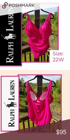 NWT Ralph Lauren Swimsuit (BRAND NEW) Cruise Line Ready - Don't Tell Me You Don't Have A Swimsuit.   I have the drinks chilling and the music is lit... LET'S PARTY!!!!  DON'T WORRY ABOUT NO ROLLS❤ This Slimming Fit and Flirty Bustline Define this Sophisticated and Versatile One-Piece from Lauren Ralph Lauren.  🔥🔥Now Be Your Beautiful & Sexy Self🔥🔥🔥  Soft cups  Hits at hip  Pull-on styling; shoulder straps  V-neck with soft pleats  Lined  Nylon/elastane; lining: polyester Ralph Lauren… Plus Fashion, Womens Fashion, Fashion Tips, Fashion Design, Fashion Trends, Ralph Lauren Swimsuits, Don't Worry, Shoulder Straps, Rolls