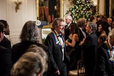 Robert Plant at the White House for Kennedy Center Honors. Jimmy Page seen on edge of right side of pic...