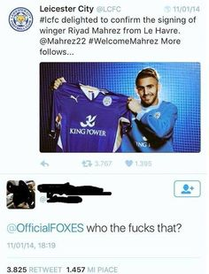 #tb to when Leicester signed Mahrez.