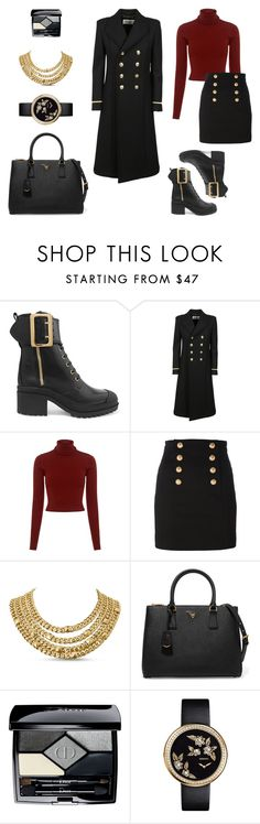 """Military Look"" by charlottes-styles on Polyvore featuring mode, Burberry, Yves Saint Laurent, A.L.C., Balmain, Prada, Christian Dior, Chanel en charlottesstyles"