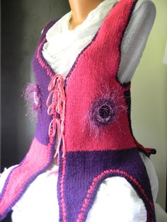 Wool vest Purple Autumn by JadAngel on Etsy