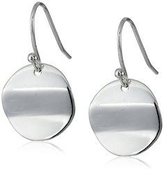 Sterling Silver Polished Circle Drop French Wire Earrings * Be sure to check out this awesome product. (This is an affiliate link and I receive a commission for the sales)
