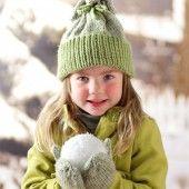 Child's Knit Hat and Mitten Set