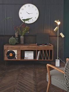 〚 New interiors for every taste by Maisons du Monde store 〛#interiordesign #homedecor #ideas #inspiration #tips #cozy #living #space #style #interior #decor #home #design Record Player Cabinet, Stereo Cabinet, Vinyl Room, Cute Home Decor, Style Vintage, Home And Living, Cozy Living, Furniture Design, Plywood Furniture