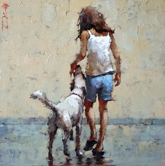 André Kohn is a Russian-born painter whose style is described as figurative impressionist. For biographical notes -in english and italian- by Kohn see: Andre Kohn, 1972 Painting People, Figure Painting, Images D'art, Figurative Kunst, Southwest Art, Magazine Art, Beautiful Paintings, Oeuvre D'art, Art Pictures