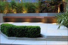 lighting under floating bench - Google Search