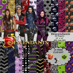 The Descendants Digital Paper Pack  30 por DigitalStudioDesigns