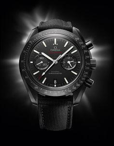 Montre Omega Speedmaster céramique noire http://www.vogue.fr/joaillerie/news-joaillerie/diaporama/bale-horlogerie-baselworld-2013-montres-hermes-rolex-chopard-dior-harry-winston-omega-zenith-graff-ck/12954/image/748587#!bale-horlogerie-baselworld-2013-montre-omega-speedmaster-ceramique-noire