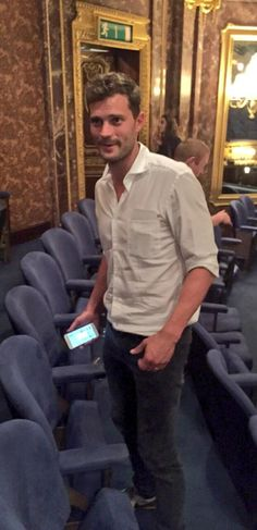Two new pictures of Jamie at The Elephant Man play in London… | Jamie Dornan News