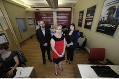 Underground child porn trade moving toward youngest victims : Signy Arnason, centre, director of the Canadian Centre for Child Protection, poses with centre analysts Stephen Sauer and Catherine Chabbert in Winnipeg.
