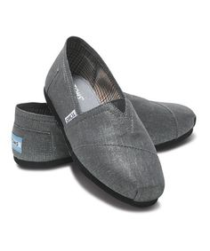 Just bought these for my daughter!  Pewter Metallic Vegan Classics - Women by TOMS on #zulily today!