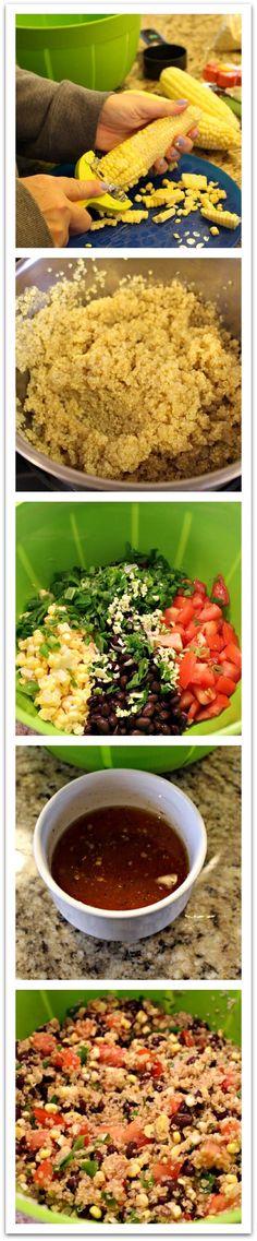 zesty corn and quinoa salad
