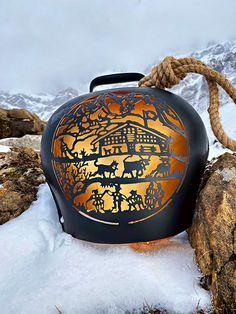 """Glocken Black """"Chalet"""" - Alpästärn Hats, Cowbell, Matte Black, Swiss Guard, Papercutting, Die Cutting, Gifts, Hat, Hipster Hat"""