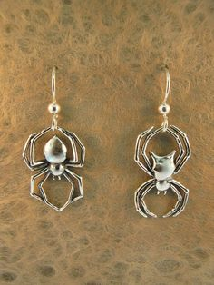 Black Widow and Orb Spider Earrings by martymagic on Etsy, $60.00
