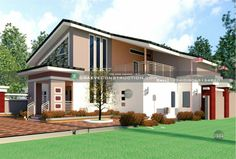 Home Design Plans, Plan Design, Penthouses, Bungalow, House Plans, How To Plan, Mansions, Bedroom, House Styles