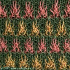 Fireflowers 1 - Knittingfool Stitch Detail