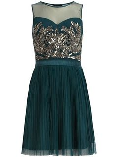Emerald sequin cocktail dress - Fashion and Love