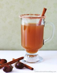 Cozy up before or after the meal with this spiced apple hot toddy #holidayentertaining