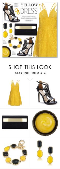 """""""LOVE YOINS"""" by nanawidia ❤ liked on Polyvore featuring de Mamiel and 1st & Gorgeous by Carolee"""