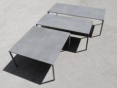 BOIACCA Mesa cuadrada by Kristalia diseño LucidiPevere
