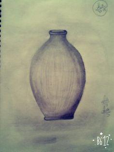a smal jar .. sketch pencil