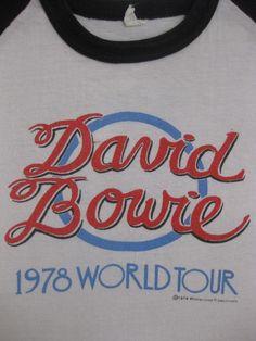 Original DAVID BOWIE 1978 vintage tour SHIRT xl/l