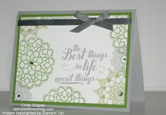 The Best Things in Life Retirement Card by cindy501 - Cards and Paper Crafts at Splitcoaststampers
