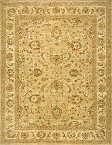 Rugsville Peshawar 5th Avenue Gold Beige Wool Rug PW506 - £1,404.00