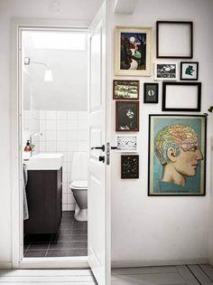 Una buhardilla en blanco y negro de 50 m2 #hogarhabitissimo #nordic #loft