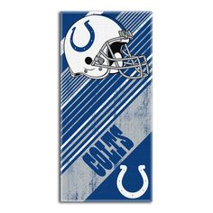 Indianapolis Colts NFL Fiber Reactive Beach Towel (Diagonal Series) (28in x 58in)