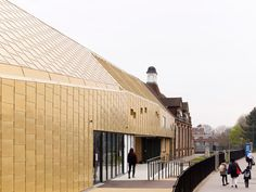 Pegasus Academy by Hayhurst and Co with gold facade. #Feb2015
