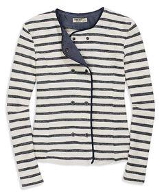 Look what I found on #zulily! Blue Stripe Snap-Front Jacket #zulilyfinds