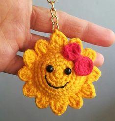 Crochet Gifts, Crochet Doilies, Crochet Flowers, Crochet Toys, Free Crochet, Knit Crochet, Crochet Sunflower, Crochet Cactus, Easter Crochet